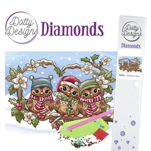 Dotty Designs Diamonds - Christmas Owls