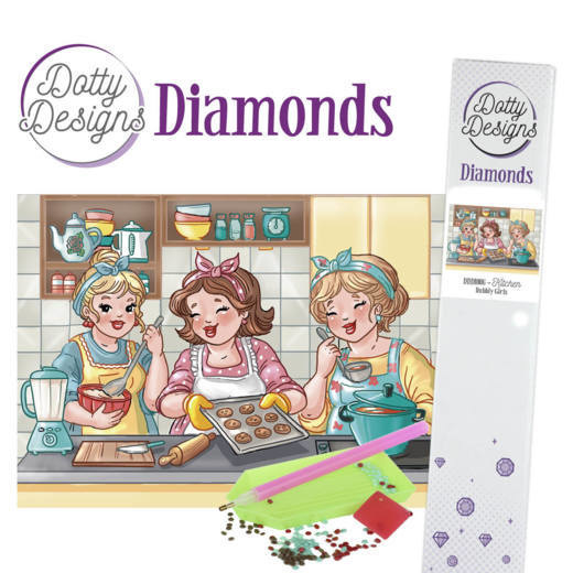 Dotty Designs Diamonds -Bubbly Girls -Kitchen