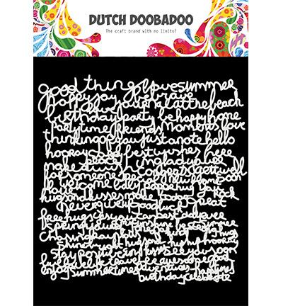Mask Art Text - Dutch Doobadoo