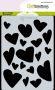 CraftEmotions Mask stencil Love Puns - harten A6 Carla Creaties