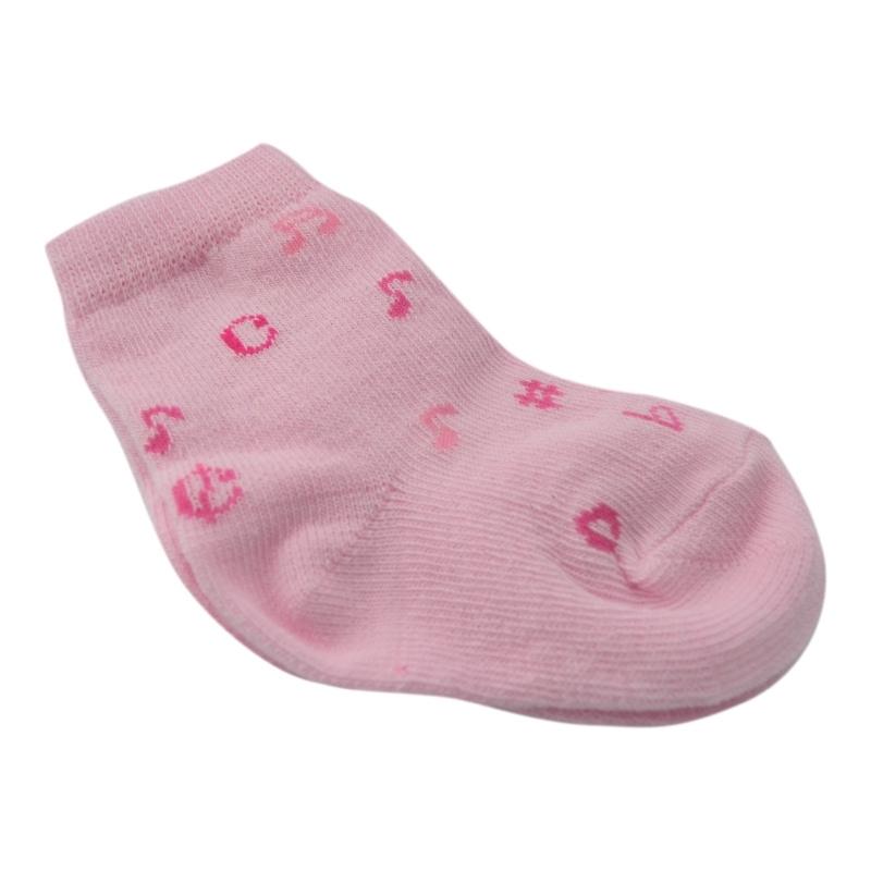 Babysokjes Muziek roze