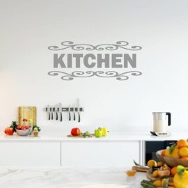 Muursticker Kitchen logo