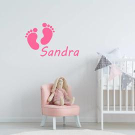 Babyvoetjes met naam