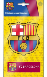 FC Barcelona sticker logo 2 stuks