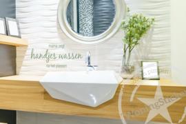 Muursticker toilet / WC- Handjes wassen
