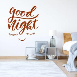 Muursticker Good night ogen