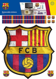 FC Barcelona muursticker 22 stuks