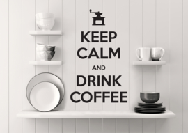 muursticker  keuken 'keep calm and drink coffee'