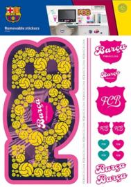 FC Barcelona muurstickers meisjes 2 stickervellen
