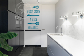 Muursticker keuken - 'messy kitchen'