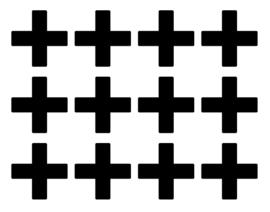 Muursticker setje kruisjes