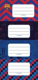 FC Barcelona naamstickers junior vinyl rood/blauw 20 stuks