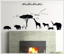 Muursticker wilde dieren Africa.