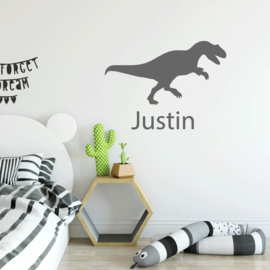 Muursticker dinosaurus  met naam