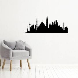 Muursticker skyline Istanbul