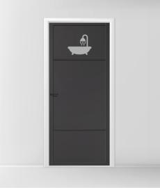 deursticker met bad
