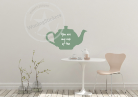 Muursticker 'my cup of tea'