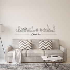 Muursticker Londen tekening