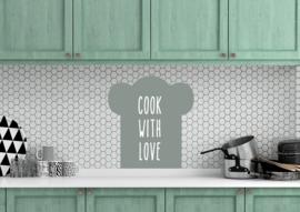 keukensticker 'koksmuts'