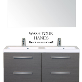 Muursticker Wash your hands mom said so