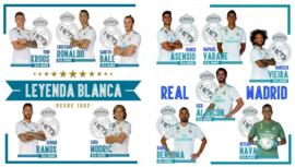 Real Madrid CF muurstickers 11 spelers 2 stickervellen