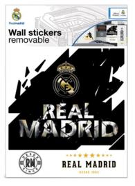 Real Madrid CF muursticker logo premium 8 stickers