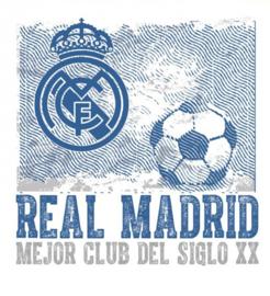 Real Madrid CF muursticker logo vintage 2 stickervellen