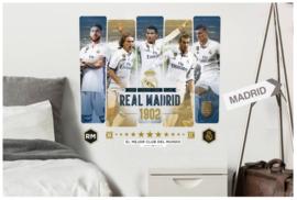 Real Madrid CF muursticker 5 spelers