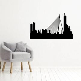 Muursticker skyline Rotterdam