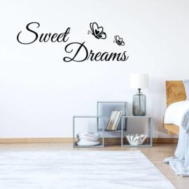 Muursticker Sweet Dreams met vlinder