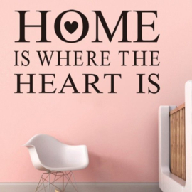 Muursticker Home is where the heart is