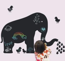 krijtbord muursticker olifant