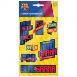 FC Barcelona stickers 7 stuks