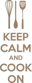 muursticker  keuken 'keep calm and cook on'