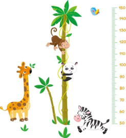 Muursticker groeimeter palmboom