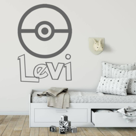 Muursticker Pokémon met naam