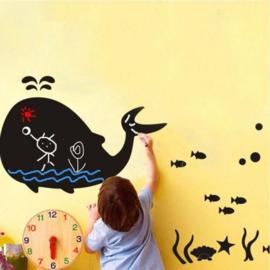 krijtbord muursticker walvis