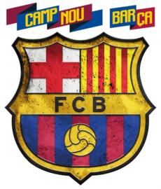 FC Barcelona muursticker logo 3 stuks