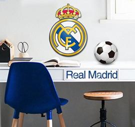 Real Madrid CF muursticker logo 2 stuks