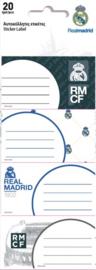 Real Madrid CF stickers junior vinyl wit 5 designs 20 stuks