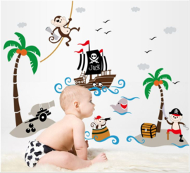 Muursticker piratenschip