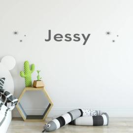 Muursticker naam met sterren