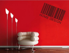 Muursticker spreuk barcode HOME DESIGN
