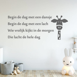 Muursticker Begin de dag met een dansje