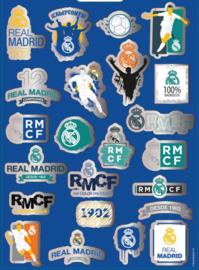 Real Madrid CF stickervellen junior 21,5 cm vinyl blauw 300 stuks