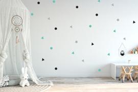 Muursticker setje dots- stippen
