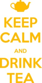 muursticker  keuken 'keep calm and drink tea'