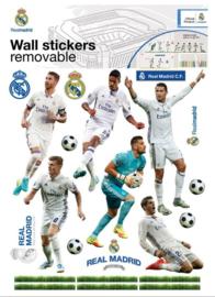 Real Madrid CF muursticker 11 spelers 2 stickervellen