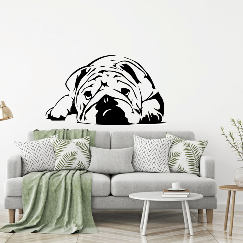 Muursticker Bulldog