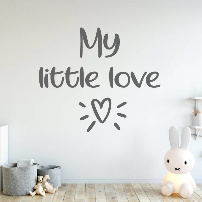 Muursticker my little love